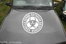 Large ZOMBIE RESPONSE Vehicle Stickers, Decal, Land Rover, 4x4, Funny,