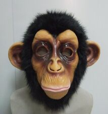 Chimp Monkey Mask Gorilla Ape Bruno Mars Lazy Song Animal Primate Fancy Dress