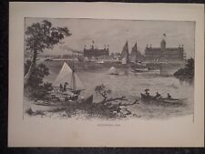 Alexandria Bay St Lawrence River New York 1889 Old Antique Print