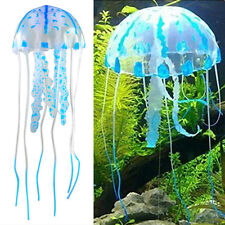 Blue Glowing Effect Aquarium Jellyfish Ornament Fish Tank Decoration LW