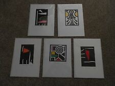 Steve Vicary Contemporary Screen Printed Abstract Composition x 5