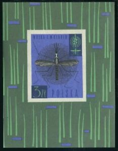Poland 1090,MNH.Michel Bl.27. WHO drive to eradicate Malaria,1962.