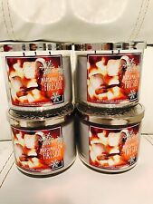 4 Bath & Body Works Marshmallow Fireside 14.5 OZ 3 Wick Large Candle Limited
