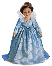 "Doll Clothes Carpatina Original Dress Elizabethan Blue Satin Fits Slim 18"" Dolls"