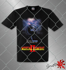 Mortal Kombat 2 men's black premium t shirt loose fit 100% cotton