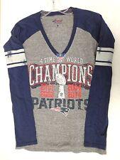 New England Patriots Women's M G-III 4her Super Bowl 50 Throwback Tee Shirt