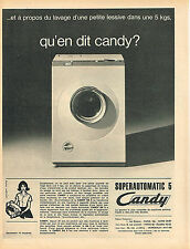 PUBLICITE ADVERTISING 044  1961  CANDY   lave linge SUPERMATIC