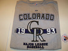 COLORADO ROCKIES MENS SZ 2XL LICENSED T-SHIRT NWT