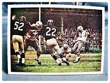 1966 PHILADELPHIA FOOTBALL #65 DALLAS COWBOYS VS N Y GIANTS EX-NM PLAY CARD
