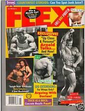FLEX Bodybuilding Muscle Magazine Arnold Schwarzenegger Ericca Kern poster 11-95