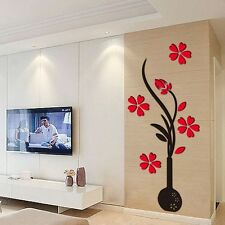 3D Flor Espejo Arte Vinilos pared Adhesivos pegatina Mural Hogar Decoración nhjk