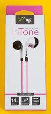 ifrogz InTone Earphones Kopfhörer für iPhone Android pink