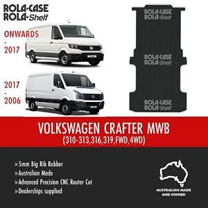Volkswagen Crafter MWB Genuine Big Rib Rubber Cargo Van Flooring 5mm CNC Cut