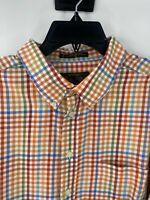 Orvis men's XL vintage signature collection long sleeve shirt plaid cotton multi
