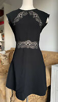 sandro black dress With Lace Details Size 1 US S