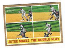 2011 Topps Heritage #311 DEREK JETER - Jeter Makes the Double Play