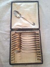 Coffret 10 Petites cuillères argent massif 230 G Monogramme BD - B D  Lapeyre