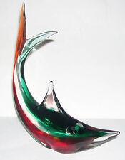 Modelo de tiburón grande hecho a Mano en Color Duo & Vidrio transparente calidad y atractivo.