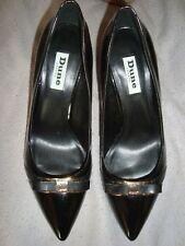 DUNE UK 4  EU 37 Black Patent  shoes RRP £ 75.00