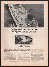 1965 CUNARD Queen Elizabeth Cruise Ship Ocean Line AD NY to France and England