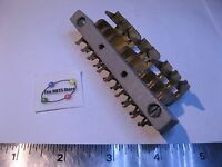 Solder Lug Terminal Edge Fork Connector Plate 8 Position Unusual - NOS Qty 1