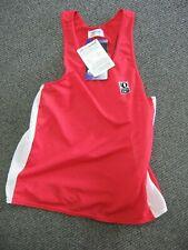 Pearl Izumi Aloft Singlet Medium Red and White Running Triathlon