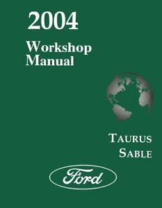 2004 Ford Taurus, Mercury Sable Shop Service Repair Manual
