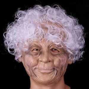 Silicone Femelle Masque Vieux Femme Latex Fête Mascarade Réaliste