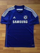 CHELSEA 2014 2015 ADIDAS HOME FOOTBALL SOCCER ORIGINAL SHIRT JERSEY sz L