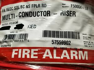 Southwire/Tappan F50004 16/2C Solid Copper Fire Alarm Cable Riser CMR Red /100ft