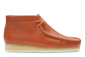 NEW CLARKS ORIGINAL EXCLUSIVE ORANGE BASKETBALL LEATHER WALLABEE Limited Edition