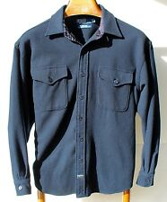 Polo Ralph Lauren L Navy Blue Long-Sleeve Wool 'Anchor' Shirt