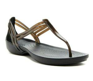 Crocs Isabella T-Strap Sandal Black  Size: US: 8