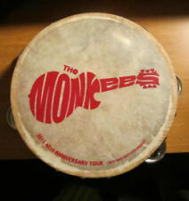 NEW Monkees TAMBOURINES Size 8 Inch CP Brand Single Row Jingles Calf Skin Heads