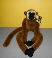 "New 24"" Fiesta Beige Tan Brown Gibbon Monkey Hugging Hanging Plush Hands"