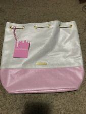 NWT Juicy Couture Baby Pink & White Bucket Bag Pack Bag