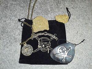 ORIGINAL PIRATES OF THE CARIBBEAN PROP GOLD NUGGET PROPS COTBP PROMO & NECKLACE