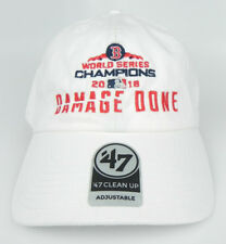 🔥 BOSTON RED SOX MLB WHITE DAMAGE DONE WORLD SERIES CHAMPIONS DAD HAT CAP NEW!