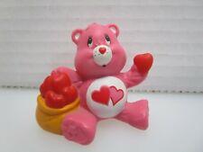Care Bears Love-A-Lot Bear Sharing His Heart Pvc Figure 1984 Agc Miniature