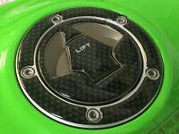 Carbon Fibre Effect Fuel Filler Petrol Cap Cover to fit Kawasaki ER-6N/6F Z1000