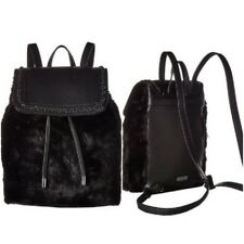 Jessica Simpson Backpack Kaelo Black Faux Fur Handbag Purse