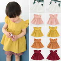Cute Baby Kids Girl Dress Toddler Princess Party Tutu Summer Cotton Soft Dress