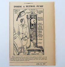 1937 Inside A Petrol Pump Workings Illustration