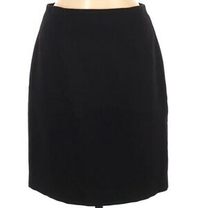 Pastille Women's Skirt Black Wool Pencil