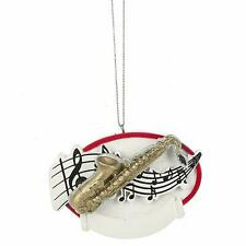 Saxophone w Music Notes Christmas Tree Ornament Midwest Cbk You Can Personalize
