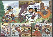 Walt Disney, Grimm, Twain - Bhutan - 947-951, Bl.125 +126 ** MNH 1985