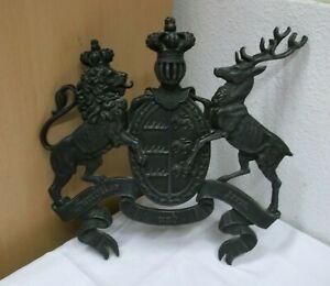 Antik altes Eisen Wappen Königreich Württemberg Furchtlos und Treu 1806-1918