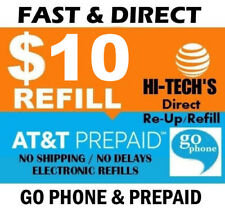 $10 At&T Prepaid Fast Refill Direct to Phone 🔥 Get It Today! 🔥 Trusted Seller