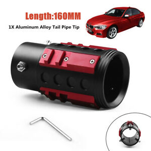 65MM Aluminum Car Truck Tail Throat Screw Rear Refit Tailpipe Exhaust Muffler