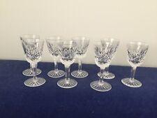 Waterford Lismore Crystal 1 Oz Liqueur Cordial Glasses -set of 8
